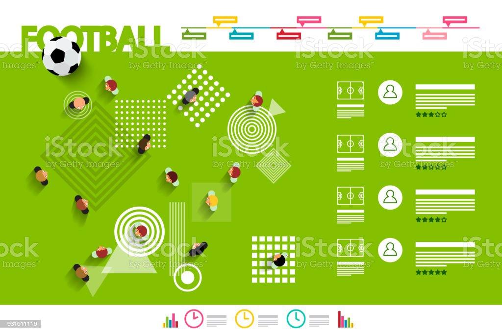 Football Infographics vector art illustration