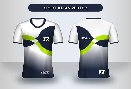 Football Jersey design template.