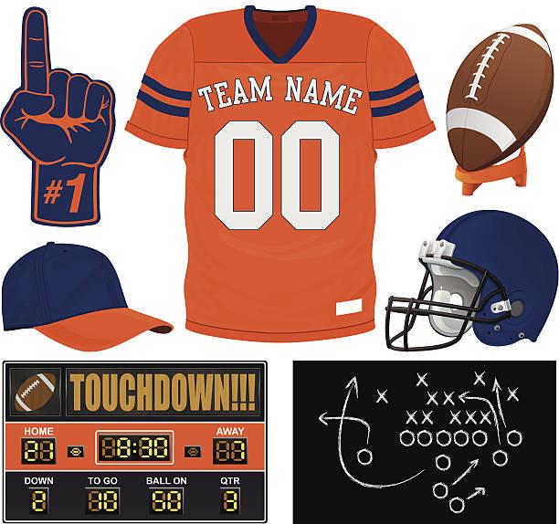 American Football Uniform Clip Art, Vector Images ...