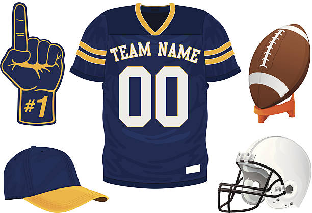 Football Jersey Set Football Jersey Set american football uniform stock illustrations