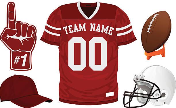 stockillustraties, clipart, cartoons en iconen met football jersey set - trui