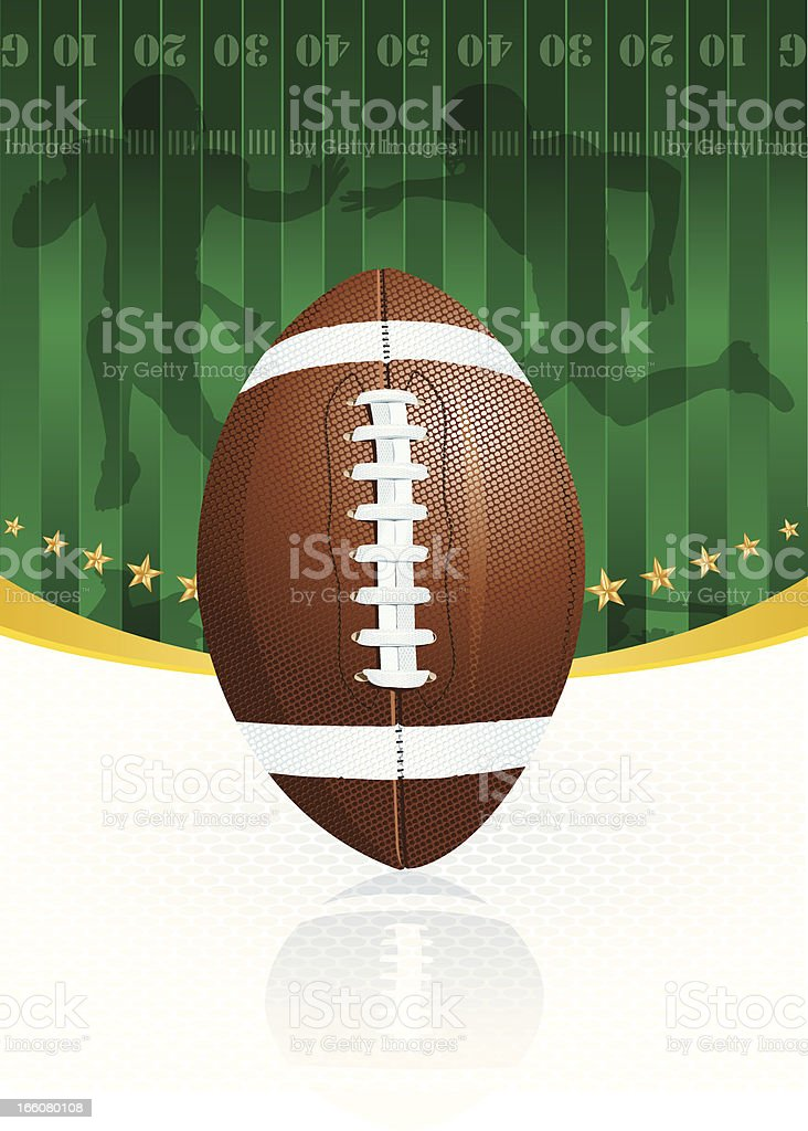 Football Kickoff Background vector art illustration