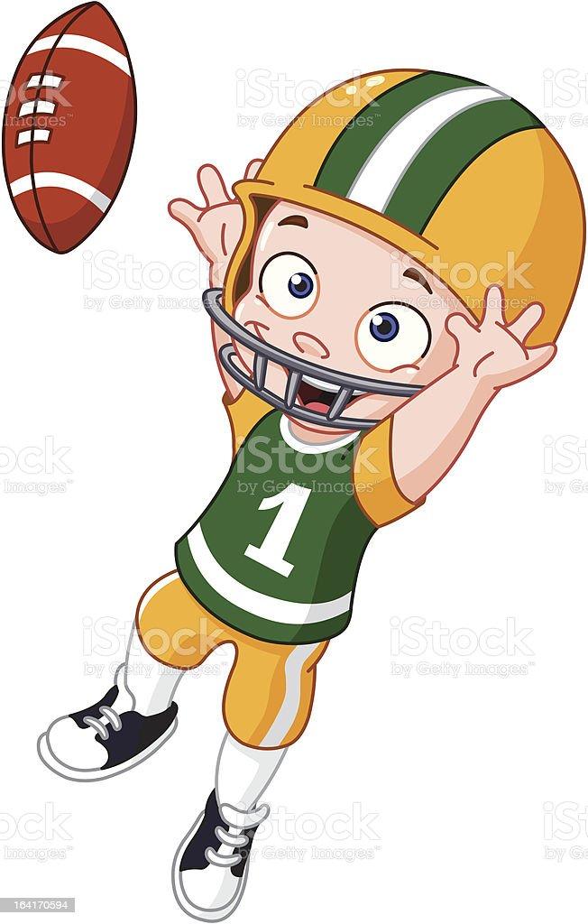 Football kid royalty-free stock vector art