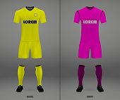 652aec050809b1 Football Kit 201819 Shirt Template For Soccer Jersey Stock Vector ...
