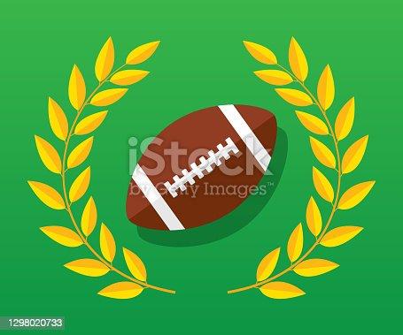 Football Laurel Icon Flat