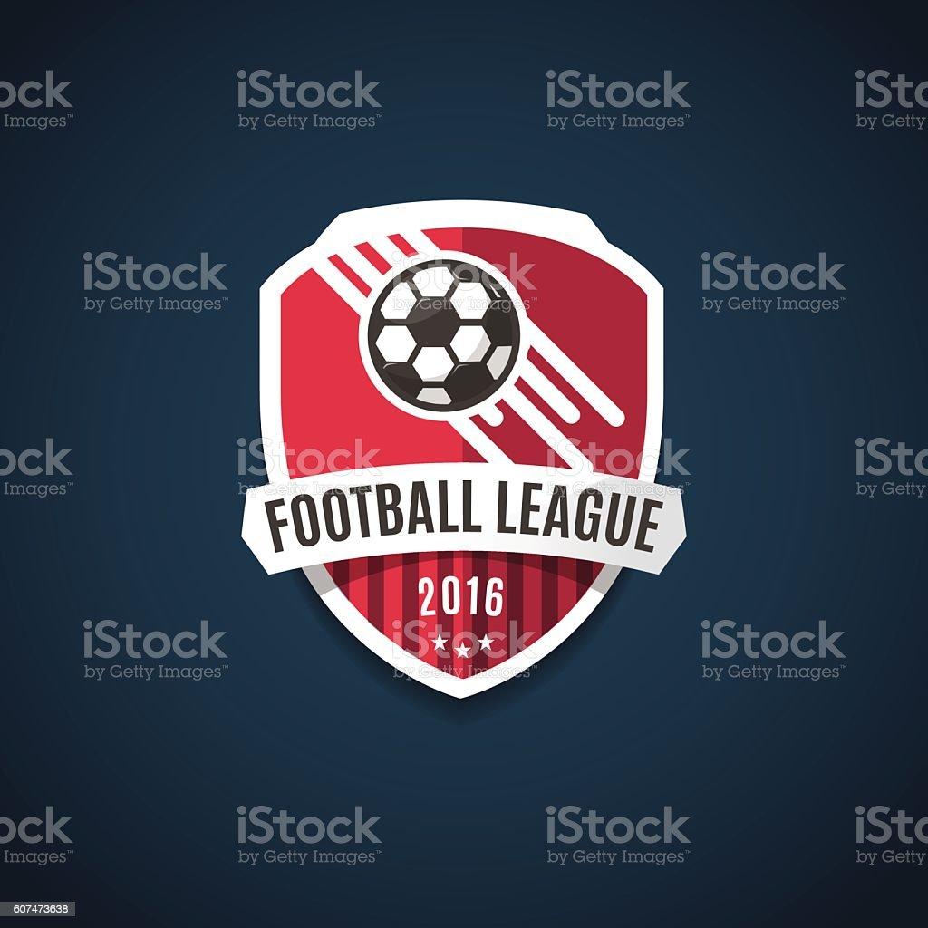 Football league logo, emblems and design elements for sport team. vector art illustration