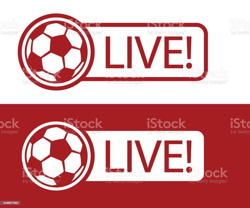 Football LIVE vector art illustration
