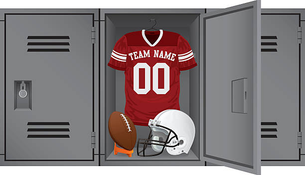 football locker - high school sports stock illustrations