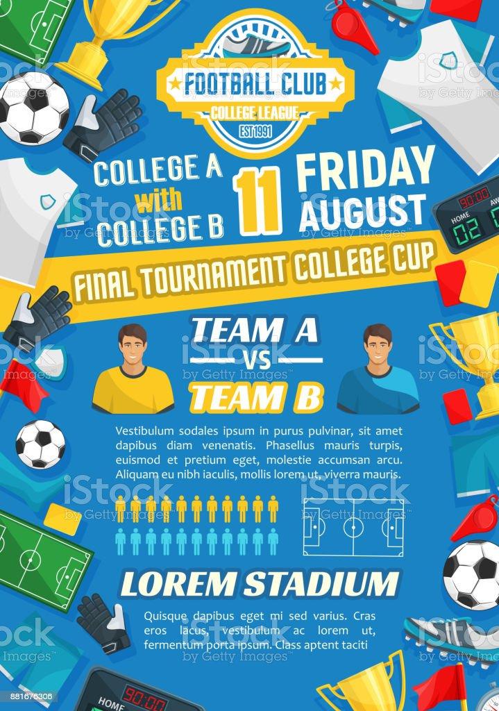 141a01425 Cartaz para design de jogos de esporte de futebol jogo de futebol vetor de  cartaz para