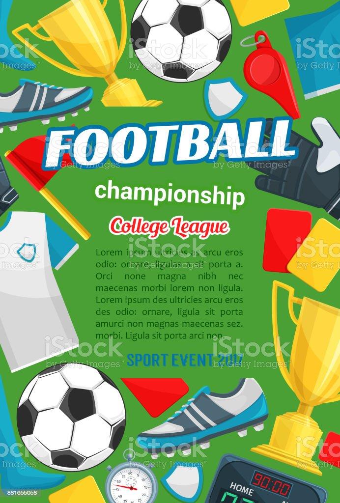 0b9fea05b Banner de esporte com itens de futebol jogo de futebol vetor de banner de esporte  com