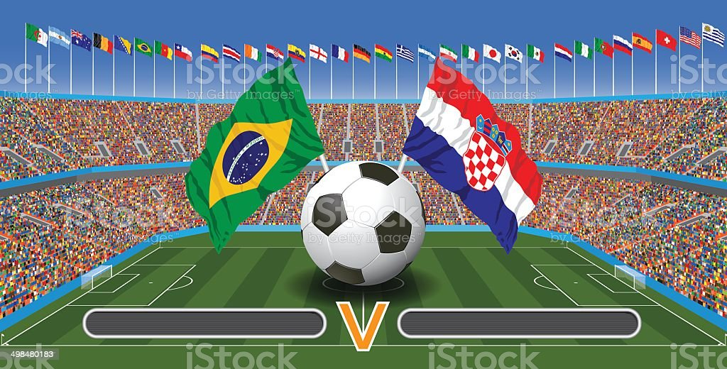 Fußball-Spiel – Vektorgrafik