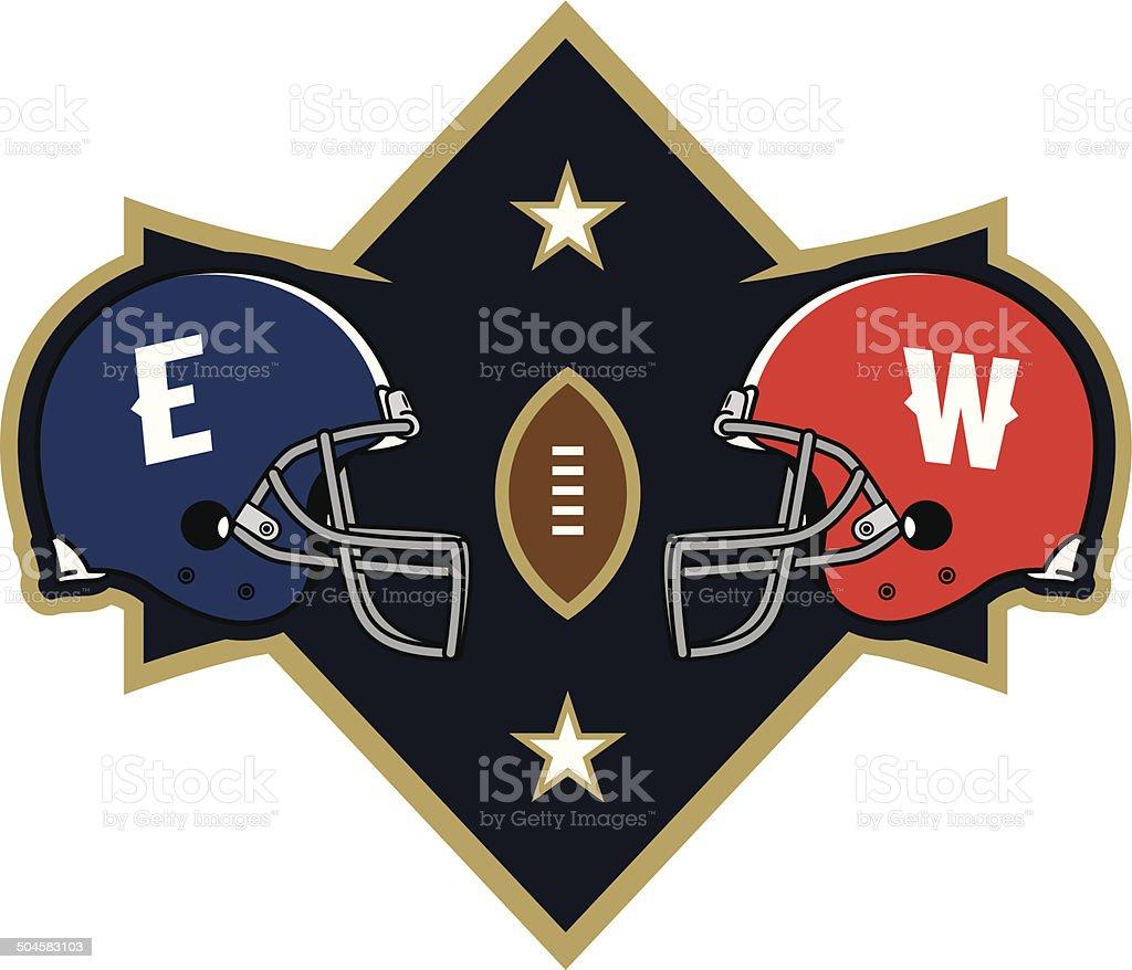 Football Matchup Logo royalty-free football matchup logo stock vector art & more images of all star game