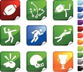 Football nine royalty free vector icon set