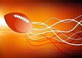 football on abstract Background