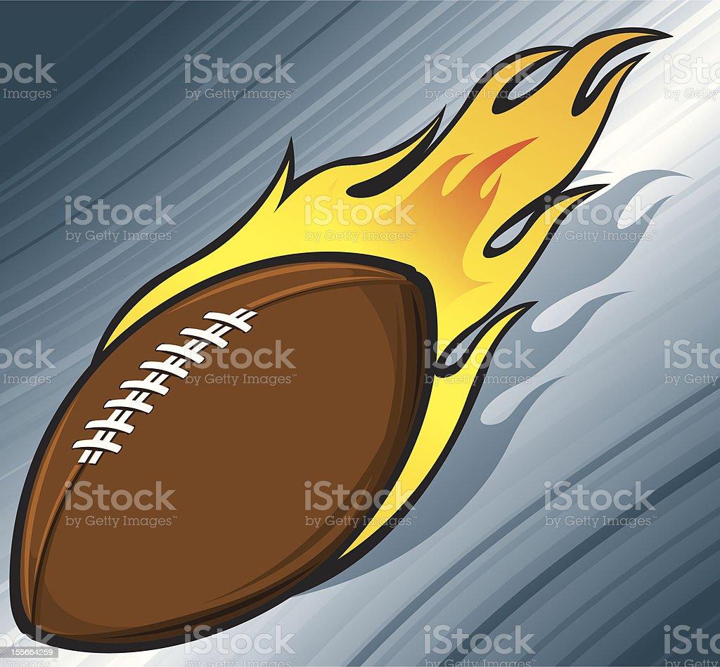 Football on Fire royalty-free stock vector art