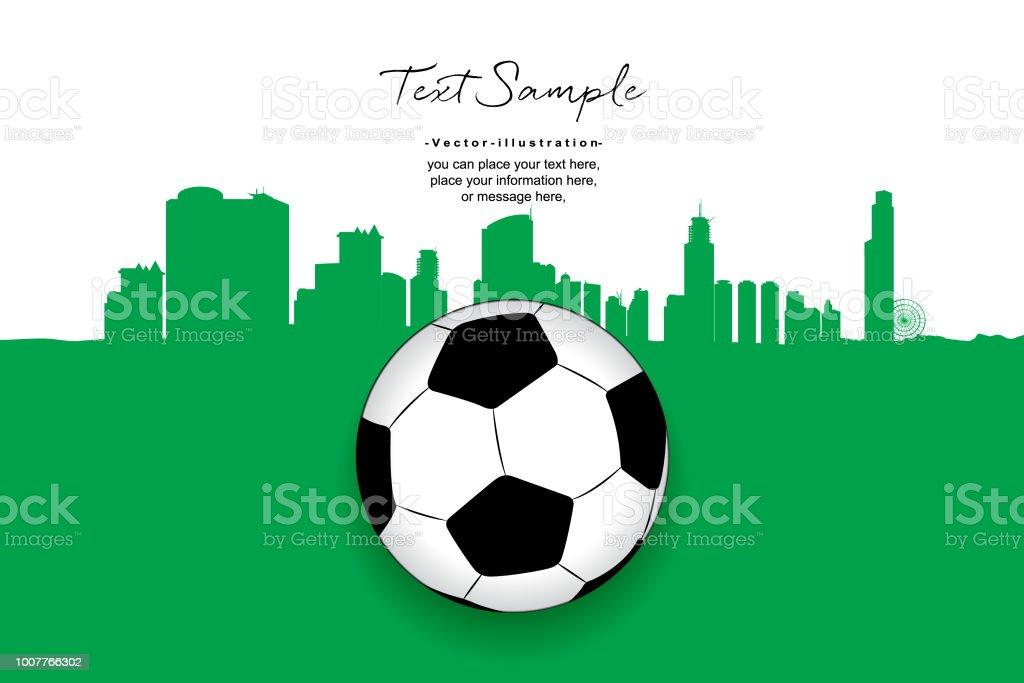 Fussball Auf Grun Mit Dem Hintergrund Design Vektor Erstellen