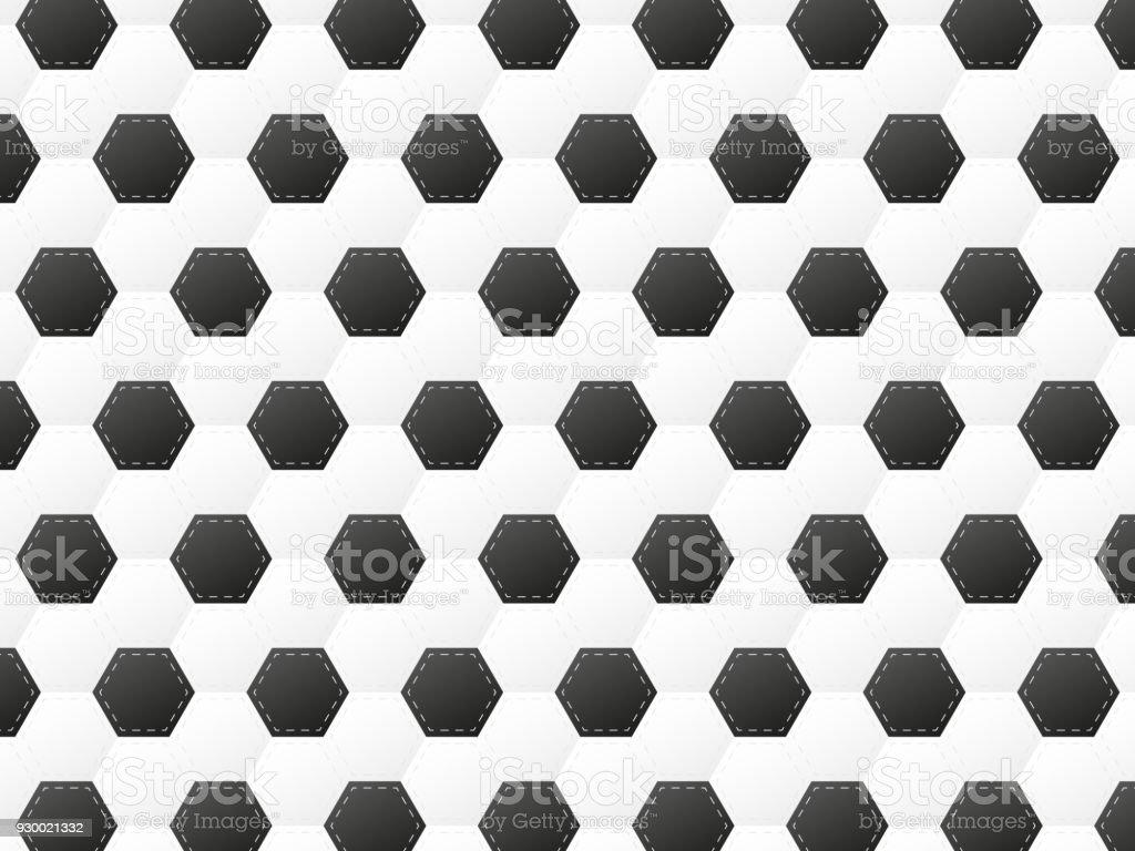 football or soccer ball pattern vector illustration vector art illustration