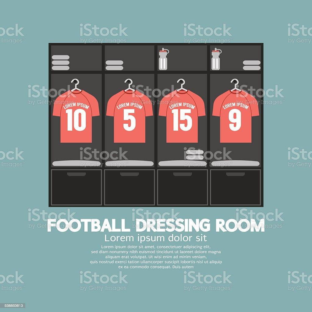 Football Or Soccer Dressing Room vector art illustration