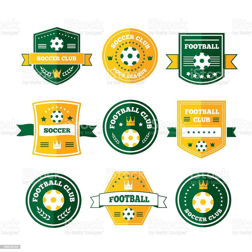 De Football ou soccer emblem de football ou soccer emblem – cliparts vectoriels et plus d'images de badge libre de droits