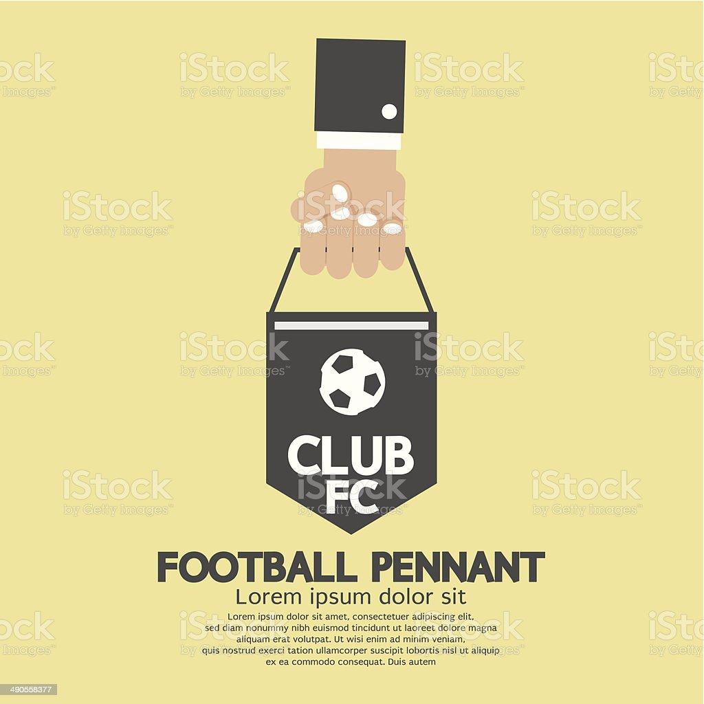 De fútbol o fútbol pendón Banner - ilustración de arte vectorial