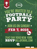 Football Party Horizontal Poster