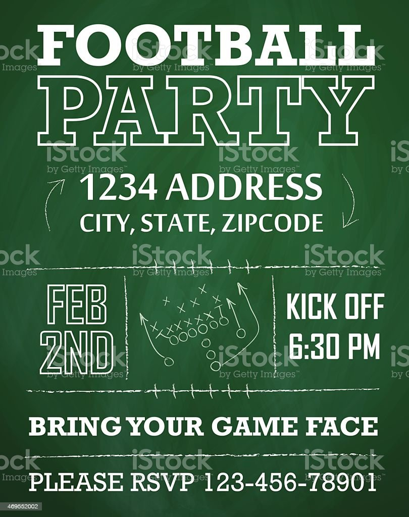 Football Party Invitation Royalty Free Stock Vector Art Amp More Images
