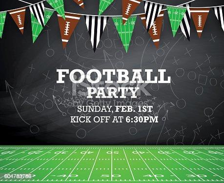 istock Football party invitation 604783786
