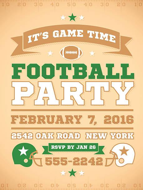 フットボールパーティの招待 - 高校スポーツ点のイラスト素材/クリップアート素材/マンガ素材/アイコン素材