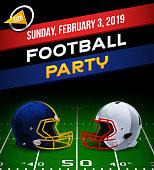 Football party invitation concept.