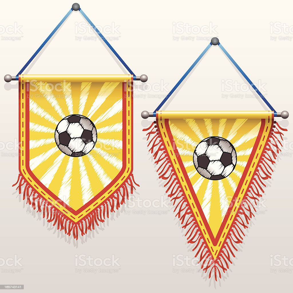 Football Pennants royalty-free stock vector art