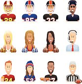 Football People Icons