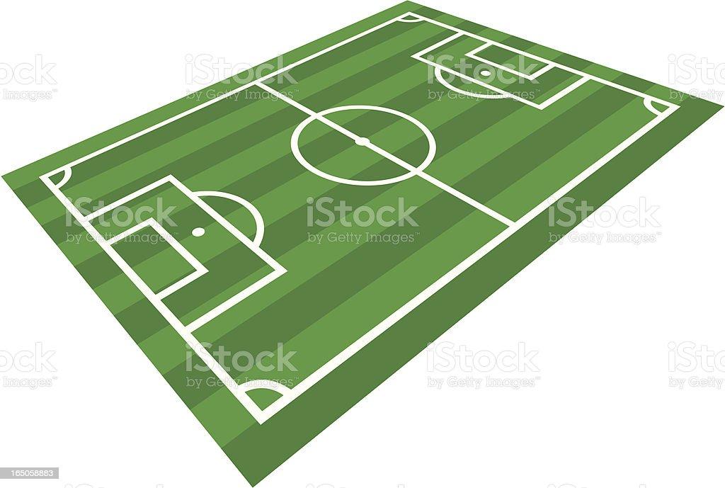 Football Pitch vector art illustration