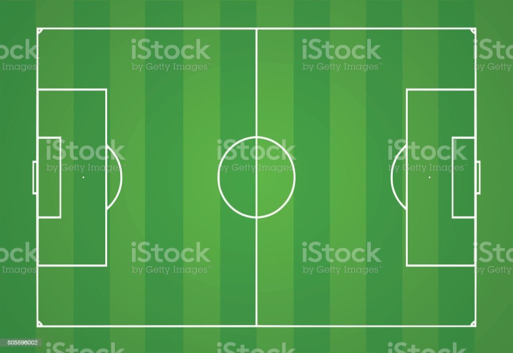 Football pitch vector illustration vector art illustration