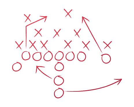 Football Play Coaching Diagram
