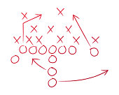 istock Football Play Coaching Diagram 1199879553