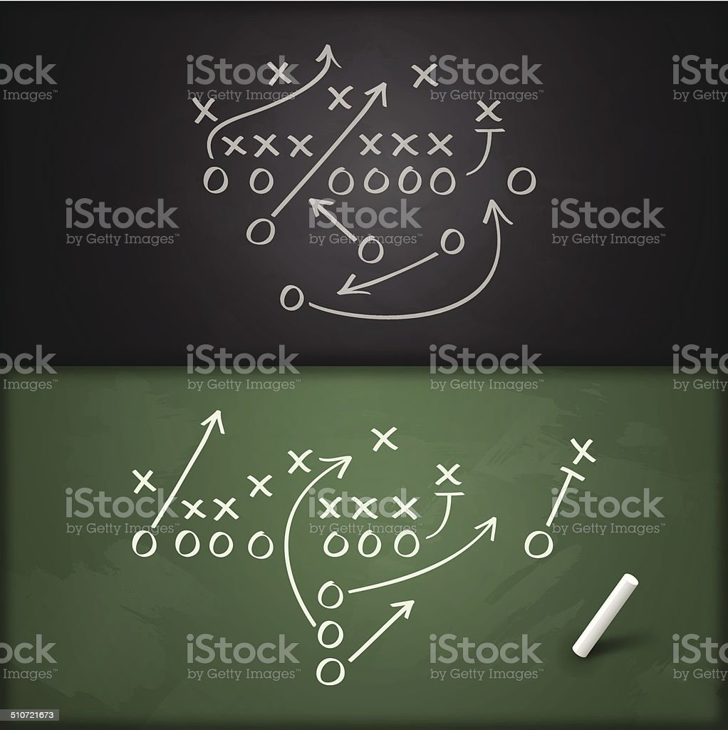 Football Play Diagrams vector art illustration
