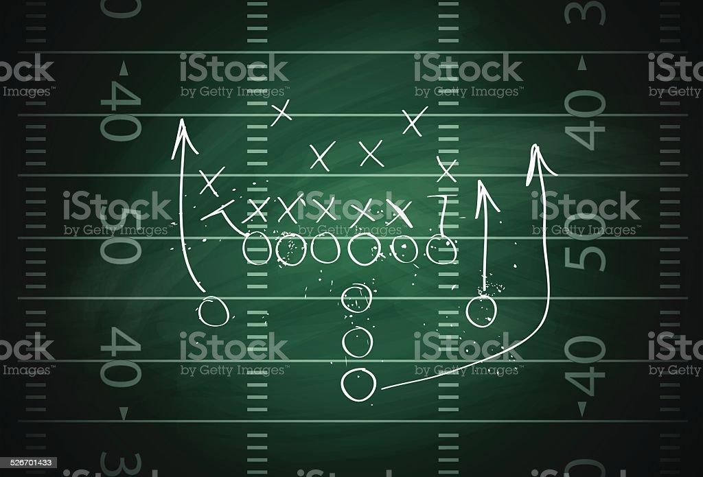 Football play vector art illustration