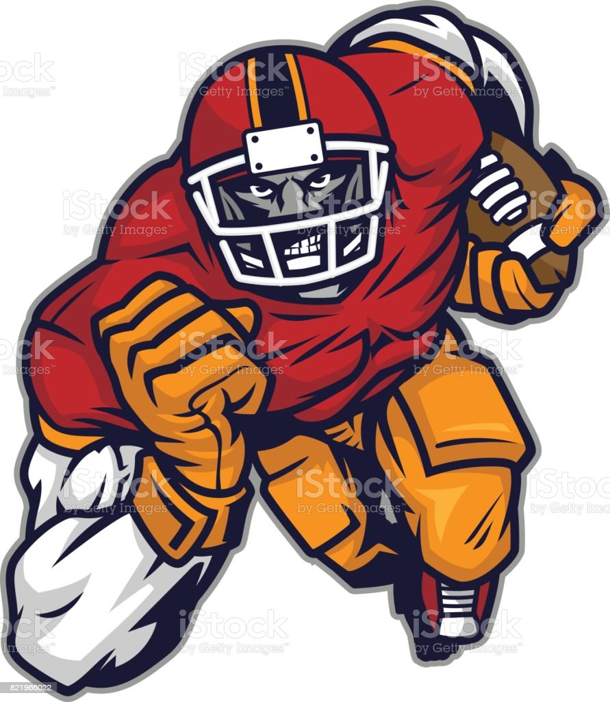 Football player champion vector art illustration