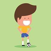 Football player character.