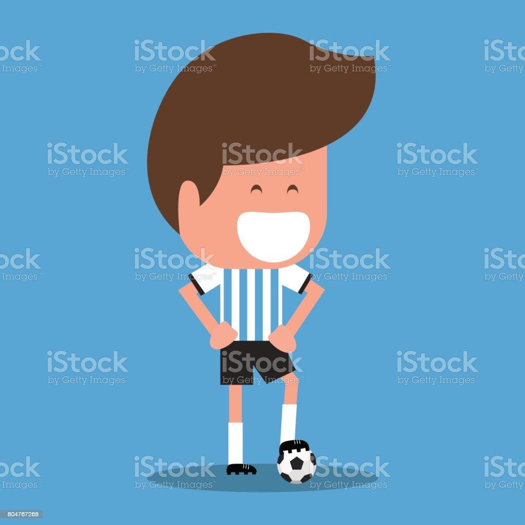 Personaje del jugador de fútbol. - ilustración de arte vectorial