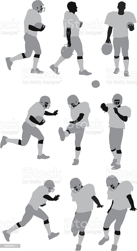 Football player in action royalty-free football player in action stock vector art & more images of activity