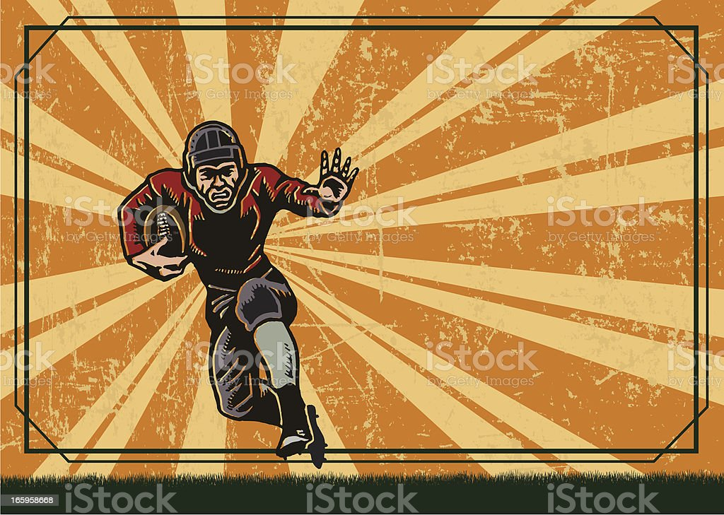 Football Player - Retro Background royalty-free stock vector art