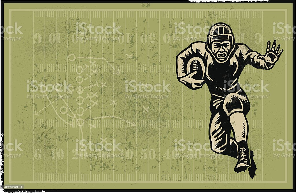 Football Player Retro Background
