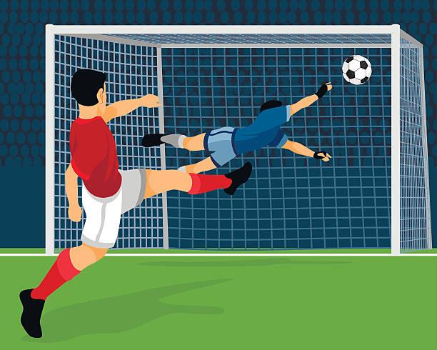 football player scores goal - 進球 幅插畫檔、美工圖案、卡通及圖標
