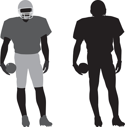 Football Player Silhouette 1