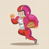 football player theme elements vector,eps