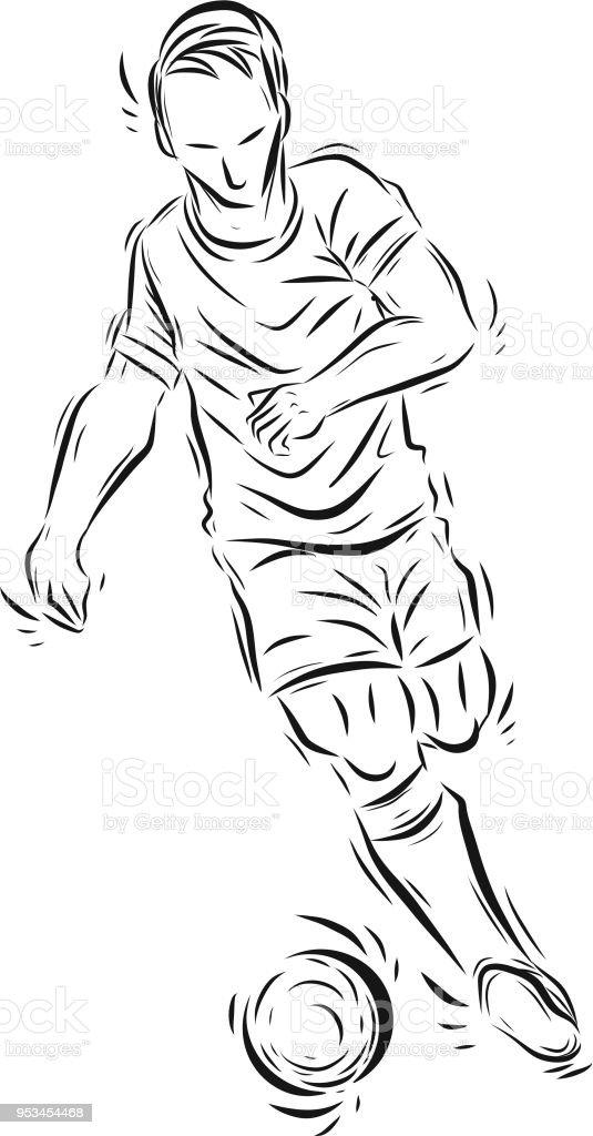 Football Spieler Zeichnen Under Town