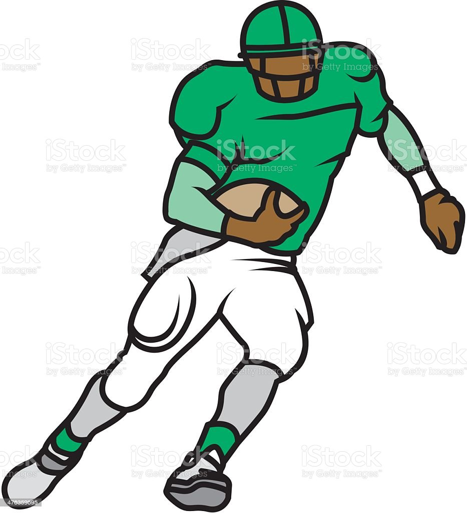 Football Player royalty-free football player stock vector art & more images of american football - ball