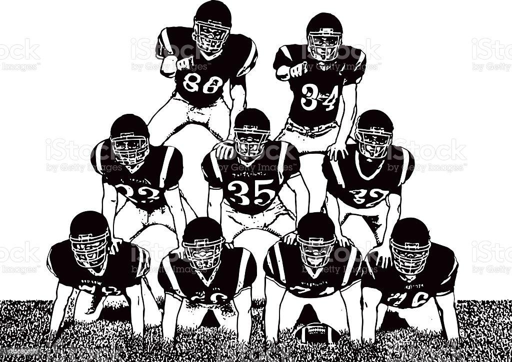 royalty free american football team clip art vector images rh istockphoto com football team clip art free football team clipart free
