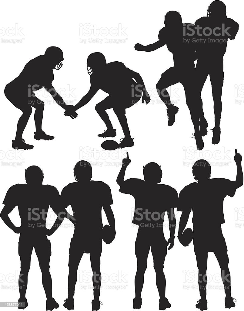 Football players in action royalty-free football players in action stock vector art & more images of activity
